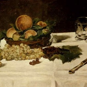 Édouard Manet – Almond Cake with Grapes & Peaches