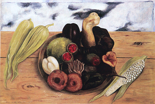 Frida Kahlo  Fruits of the Earth   1938-39 Frida Kahlo Famous Paintings Still Life