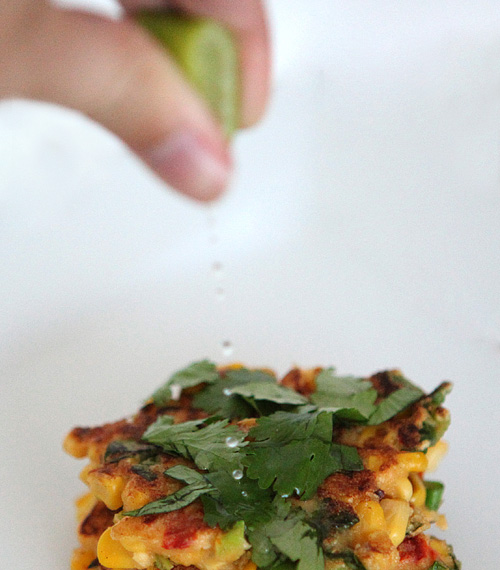 ... Fritters with Roasted Peppers, Cilantro and Feta | Feasting on Art