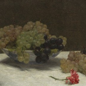 Henri Fantin-Latour - Baked Cheesecake with Sugared Grapes