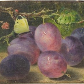 Colour Purple - Benjamin Roberts - Baked Custard with Plums