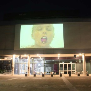 'Mouthfeel' at Parer Place Urban Screens, QUT, Brisbane
